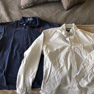 Men's Polo Ralph Lauren Knit Polo & Oxford Shirt
